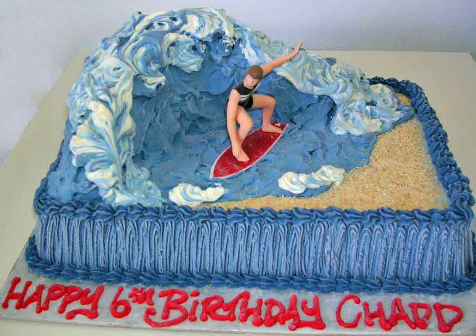 Surfer - Surfing -                       Specialty Cake